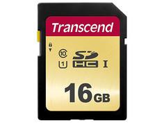 Карта памяти 16Gb - Transcend 500S SDHC I Clase 10 UHS-I U1 TS16GSDC500S