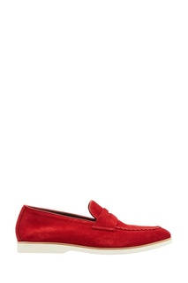 Красные замшевые туфли Canali