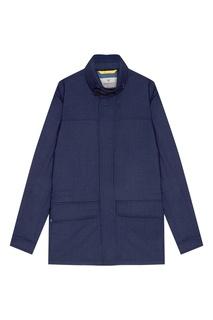 Синяя куртка из кашемира Canali