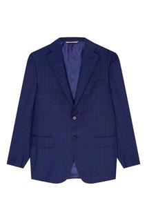 Синий костюм-двойка Canali