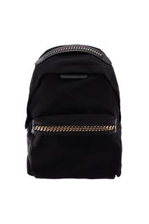 Черный рюкзак с отделкой из цепочки Stella Mc Cartney