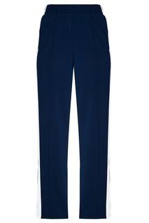 Синие брюки с лампасами Adidas
