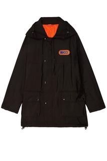 Черная куртка с логотипом Gucci
