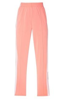 Розовые брюки с лампасами Adidas