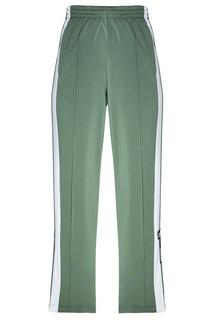 Зеленые брюки с лампасами и стрелками Adidas