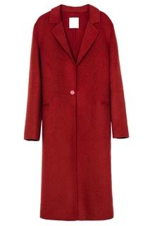 Красное пальто с лацканами Sandro