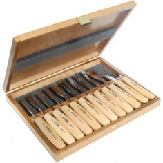 Набор из 12 резцов в деревянной коробке narex standart 894850