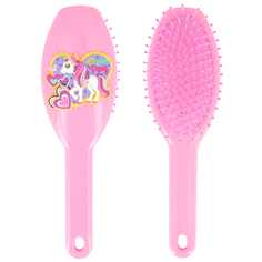 Расческа для волос MISS PINKY UNICORN розовая с пони