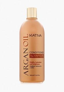 Кондиционер для волос Kativa Увлажняющий с маслом Арганы, 500 мл