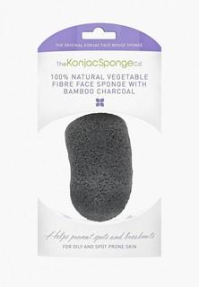 Спонж для очищения лица The Konjac Sponge Co Premium Face Mouse Sponge Bamboo Charcoal (премиум-упаковка)