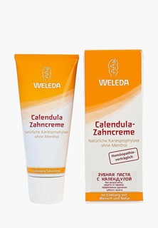 Зубная паста Weleda с календулой без запаха мяты 75 мл с календулой без запаха мяты 75 мл