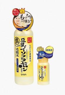 Лосьон для лица Sana Увлажняющий и подтягивающий с ретинолом и изофлавонами сои, 200 мл