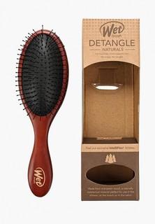 Расческа Wet Brush для спутанных волос деревянная (средне-темное дерево)