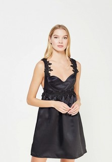 Платье LOST INK LACE TRIM FIT AND FLARE SATIN DRESS