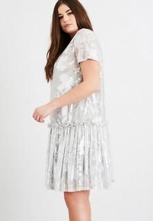 Платье LOST INK PLUS SWING DRESS IN METALLIC