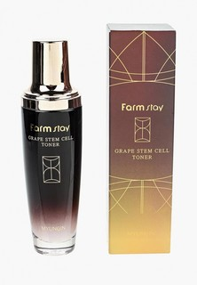 Тоник для лица Farm Stay с фито-стволовыми клетками винограда, 130 мл