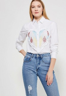 Блуза LOST INK EMBELLISHED HEART COTTON SHIRT