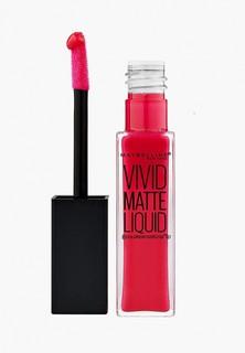 """Помада Maybelline New York для губ жидкая матовая """"Vivid Matte"""", оттенок 35, Взрывной Рубин, 7,7 мл"""