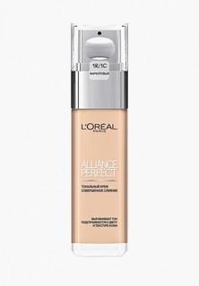"""Тональный крем LOreal Paris LOreal для лица """"Alliance Perfect, Совершенное слияние"""", выравнивающий и увлажняющий, оттенок 1R, фарфоровый, 30 мл"""