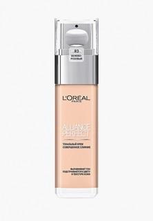 """Тональный крем LOreal Paris LOreal для лица """"Alliance Perfect, Совершенное слияние"""", выравнивающий и увлажняющий, оттенок R3, Бежево-розовый 30 мл"""