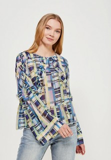 Блуза LOST INK PRINTED RUFFLE BLOUSE