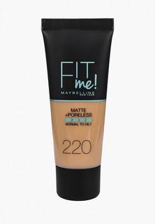 Тональное средство Maybelline New York Fit Me, Матовая кожа + невидимые поры, Оттенок 220, Классический Бежевый, 30 мл