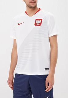 Футболка спортивная Nike Nike Breathe Poland Home Stadium Mens Short-Sleeve Jersey