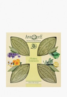 """Набор для ванны и душа Aphrodite Мыло оливковое, """"Ароматные травы"""". 4 куска"""