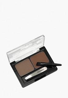 Набор для макияжа бровей Poeteq (светло-коричневый, коричневый)