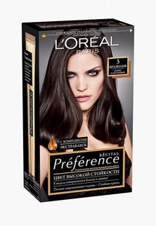 """Краска для волос LOreal Paris LOreal """"Preference"""", стойкая, оттенок 3, Бразилия"""