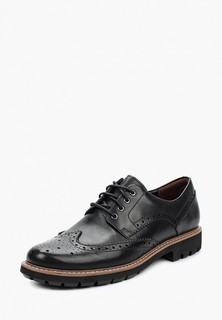 Туфли Clarks BATCOMBE WING BLACK LEATHER