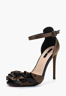Босоножки LOST INK MICHELLE RUFFLE STRAP HEELED SANDAL