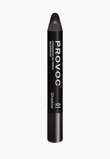 Тени для век Provoc Eyeshadow Pencil 01 водостойкие (черный, матовые)