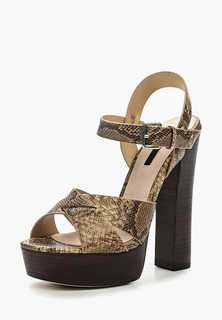 Босоножки Lost Ink ROXA HIGH BLOCK HEEL PLATFORM SANDAL - SNAKE
