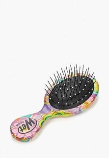 Расческа Wet Brush для спутанных волос mini размера (зеленые цветы)