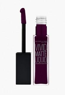 """Помада Maybelline New York для губ жидкая матовая """"Vivid Matte"""", оттенок 45 , Глубокий сливовый, 7,7 мл"""