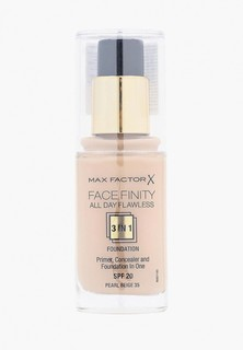 Тональное средство Max Factor Facefinity All Day Flawless 3-in-1 35 тон pearl beige Facefinity All Day Flawless 3-in-1 35 тон pearl beige