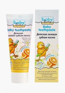 Зубная паста Babyline Детская со вкусом апельсина, 75 мл