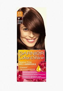 "Краска для волос Garnier ""Color&Shine"" без аммиака, оттенок 4.15, Морозный каштан"