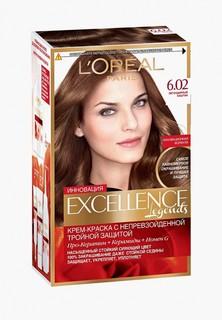 """Краска для волос LOreal Paris LOreal """"Excellence"""", стойкая, оттенок 6.02, Легендарный каштан"""