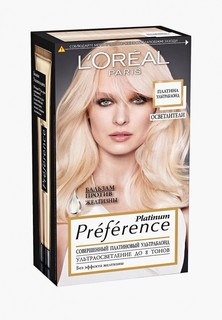 "Краска для волос LOreal Paris LOreal ""Preference, Платина Ультраблонд"", стойкая, 8 тонов осветления ""Preference, Платина Ультраблонд"", стойкая, 8 тонов осветления"