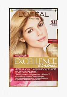 """Краска для волос LOreal Paris LOreal """"Excellence"""", стойкая, оттенок 8.13, Светло-русый бежевый"""