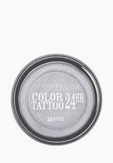 "Тени для век Maybelline New York ""Color Tattoo 24 часа"" оттенок 50 Неизменное серебро 4 мл"