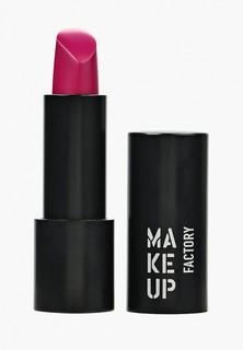 Помада Make Up Factory Устойчивая полуматовая Magnetic Lips semi-mat&long-lasting, т.176 пурпурный