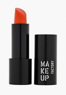 Помада Make Up Factory Устойчивая полуматовая для губ Magnetic Lips semi-mat&long-lasting тон 324 оранжевый