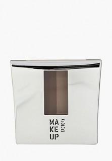 Тени для бровей Make Up Factory с трафаретом Eye Brow Powder тон 4 кофейно-коричневый