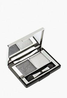 Тени для век Pupa компактные двойные VAMP! DUO, тон 009 серебряный камень