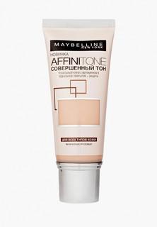 """Тональный крем Maybelline New York для лица """"Affinitone"""", выравнивающий и увлажняющий, с аргановым маслом, оттенок 02, Слоновая кость, 30 мл"""