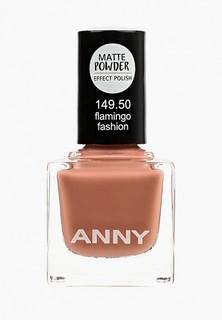Лак для ногтей Anny тон 149.50 с эффектом матовой пудры, темный палисандр