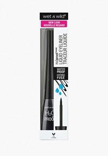 Подводка для глаз Wet n Wild Megaliner Liquid Eyeliner Traceur Liquide H20 water proof e879 black noir